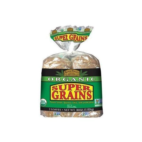 Alpine Valley Organic Bread, Super Grains