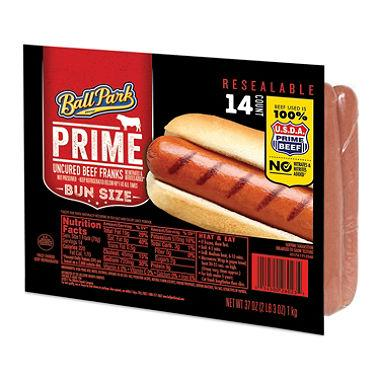Ball Park Prime Uncured Beef Franks (2.3 lbs, 14 franks)