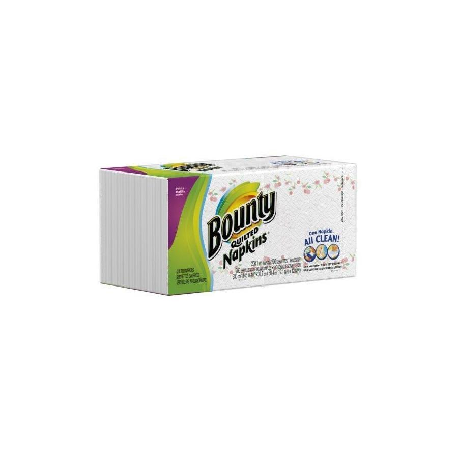 Bounty Quilted Paper Napkins - White 200 ct