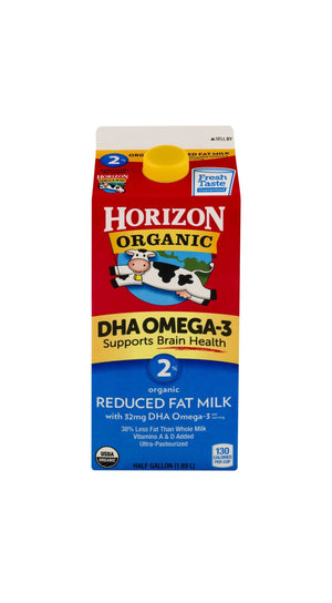 Horizon Organic Reduced Fat Milk w/DHA (64oz.)