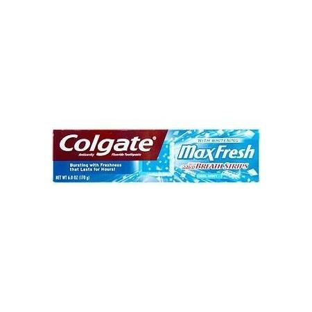 Colgate Max Fresh Whitening with Mini Breath Strips Cool Mint Toothpaste - 7.8 oz.