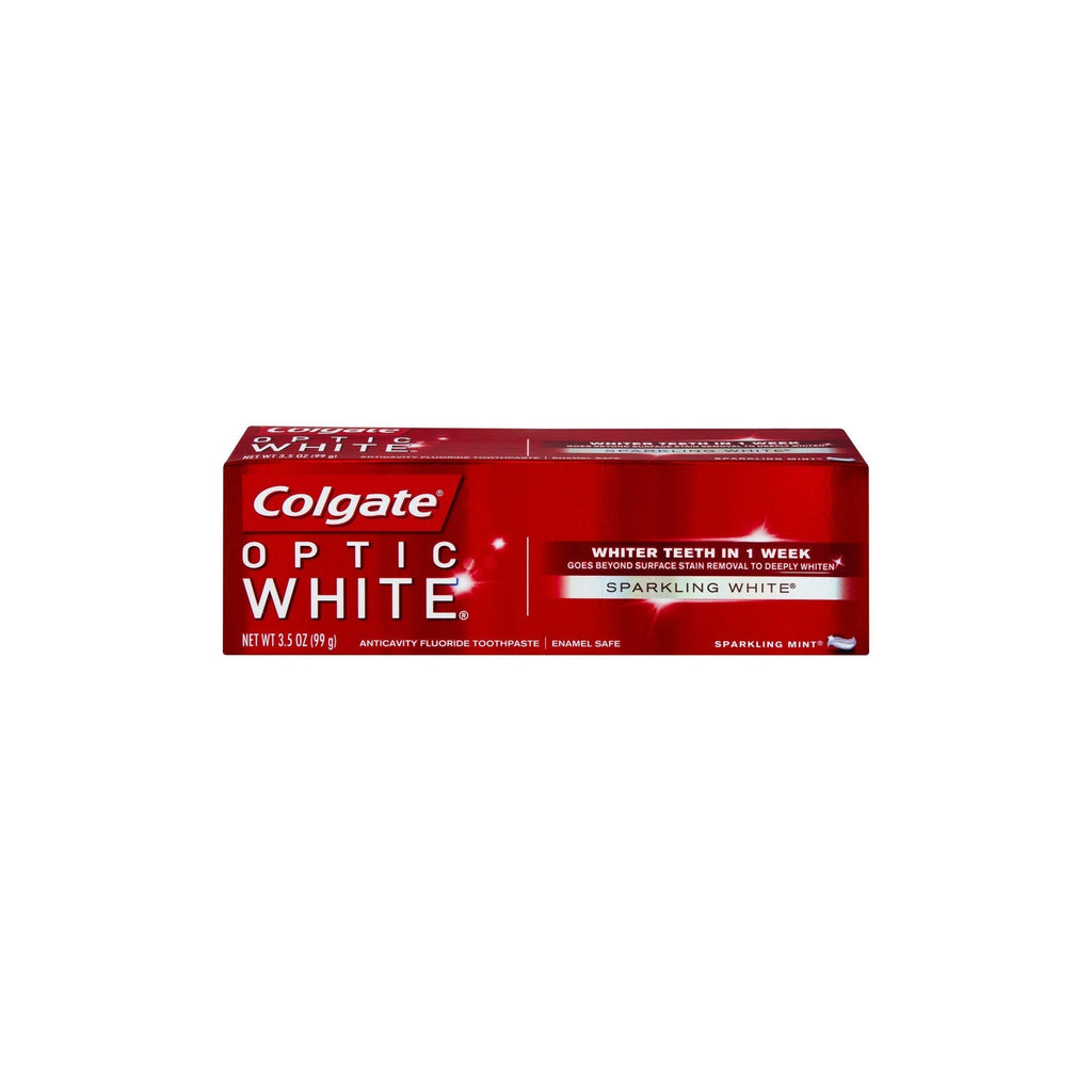Colgate Optic White Sparkling White Toothpaste Sparkling Mint, 3.5 OZ