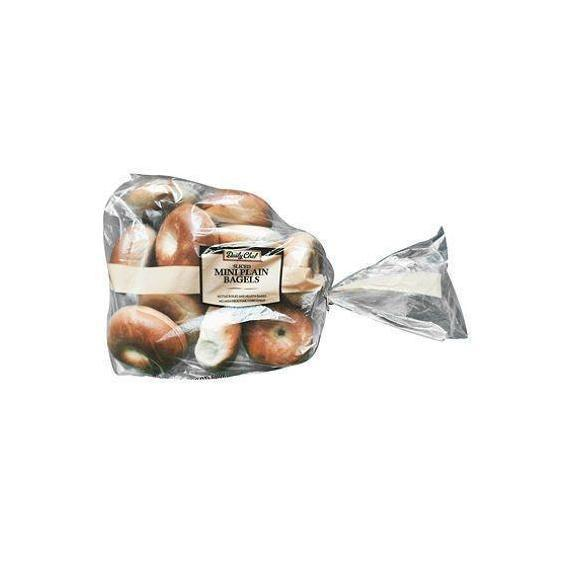 Daily Chef Mini Plain Sliced Bagels (12 ct.)