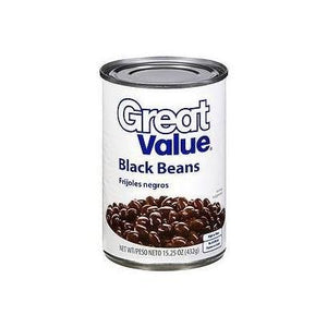 Great Value Can of Black Beans (1 ct.)