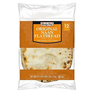 Daily Chef Original Naan Flatbread (12 ct)