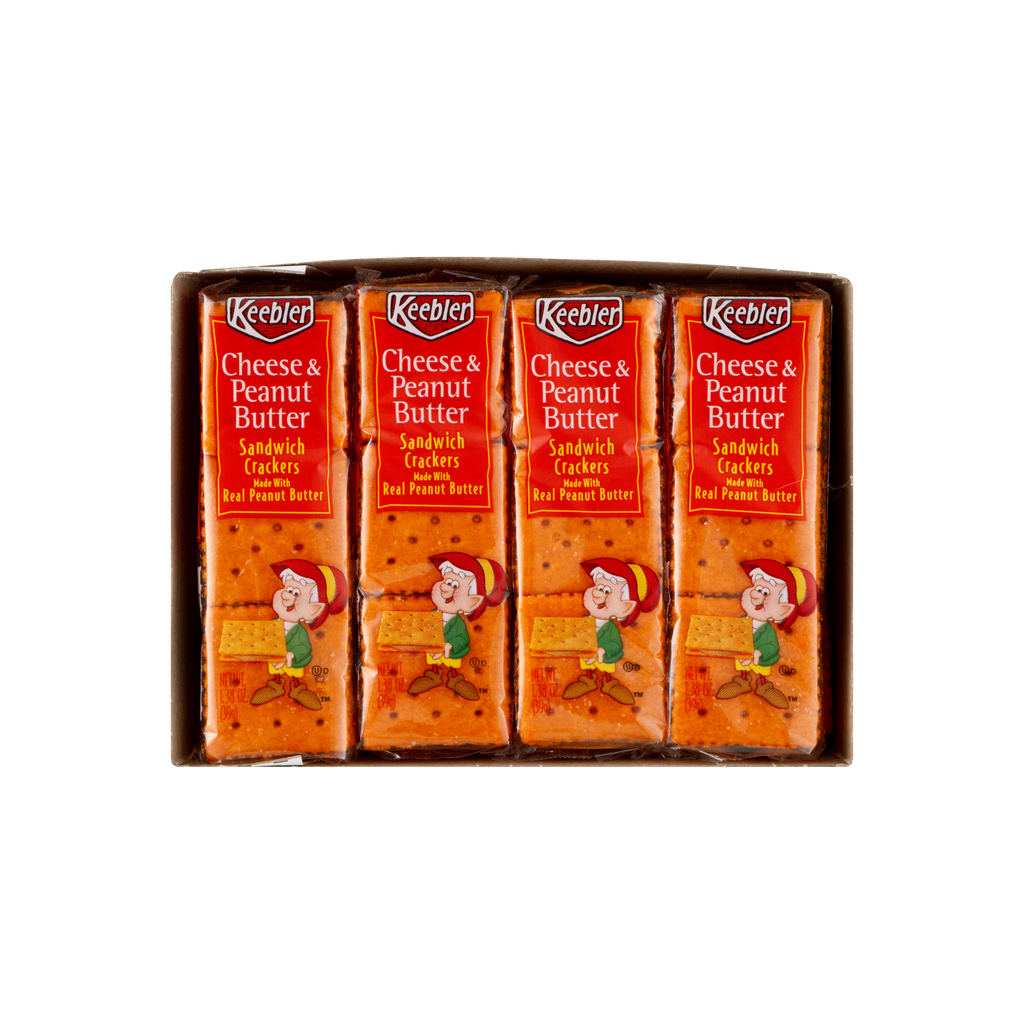 Keebler Cheese & Peanut Butter Sandwich Crackers 8 -1.38 oz. Packs