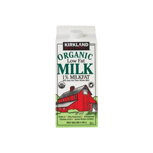 Kirkland Signature Organic Low Fat 1% Milk 1/2 Gallon (64 fl oz)