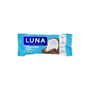 LUNA Chocolate Dipped Coconut Whole Nutrition Bars for Women, 1.6