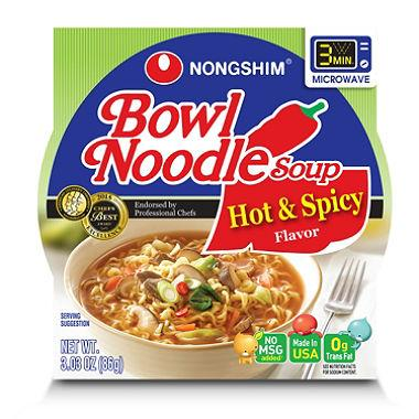 Nongshim Bowl Noodle Soup, Hot and Spicy (3 oz)