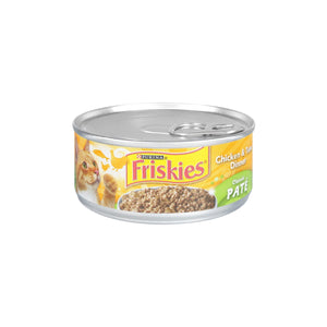 Purina Friskies Wet Cat Food Classic Pate Chicken & Tuna Dinner 5.5 oz. Can
