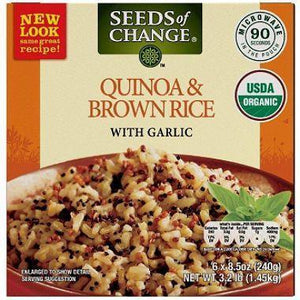 Seeds of Change Organic Quinoa and Brown Rice with Garlic 8.5 oz.