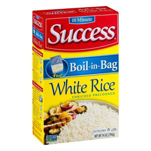 Success Natural Long Grain Boil-In-Bag 4 ct Rice, 14 oz