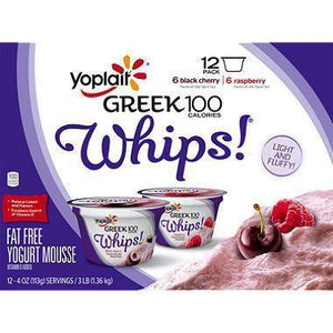 Yoplait Greek 100 Calorie Whips Yogurt - Black Cherry (6 ct.)