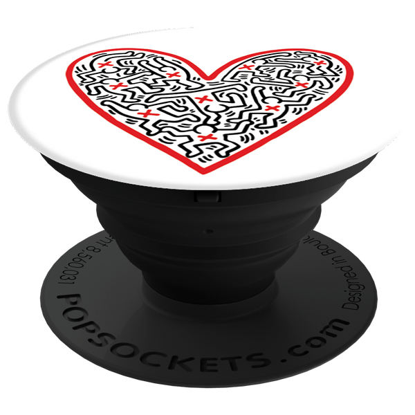PopSockets Cross My Heart - Keith Haring