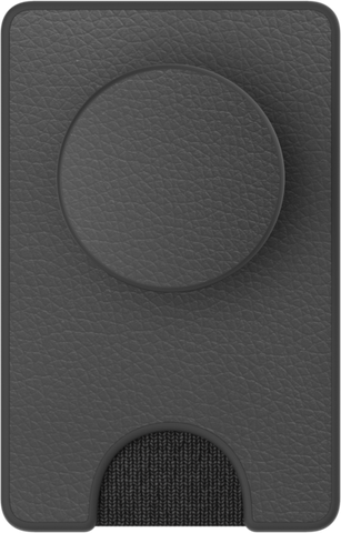 NYHET! PopSockets POPWALLET+ Pebbled Vegan Leather Black