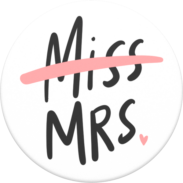 NYHET 🔄 PopSockets - Miss to Mrs POPGRIP
