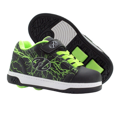 Heelys Dual Up X2 Black Bright Yellow Lightning