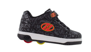Heelys Dual Up X2 Black Grey Red Dino