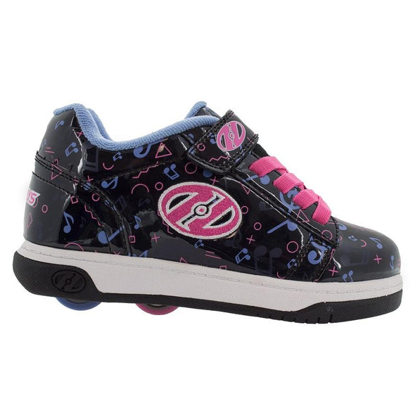Heelys Dual Up X2 Black Pink Blue Music
