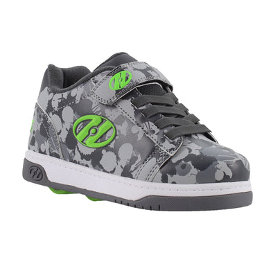 Heelys Dual Up X2 Charcoal Grey Bright Green Splatter
