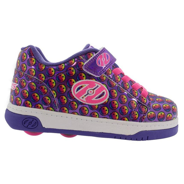 Heelys Dual Up X2 Purple Rainbow Smile