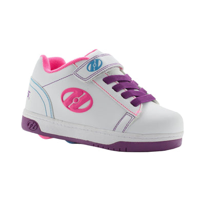 Heelys Dual Up X2 White Purple Neon Multi