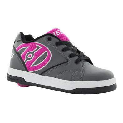 Heelys Propel Terry Charcoal Pink Terry Logo