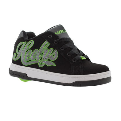Heelys Split Black Charcoal Bright Green