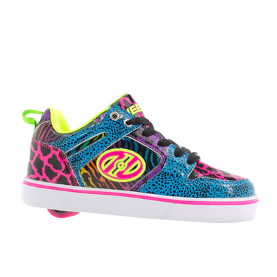 Heelys Motion 2.0 Cyan Hot Pink Purple Animal Print