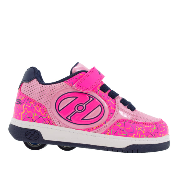 Heelys Plus X2 Hot Pink Light Pink Navy Scribble