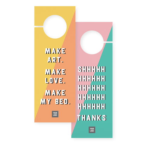 Door hangers – 2 sided - Art Boutique – Multi