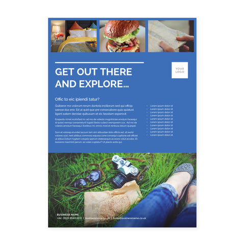 A4 Flyer / Factsheet - 1 sided - Colour Block – Blue