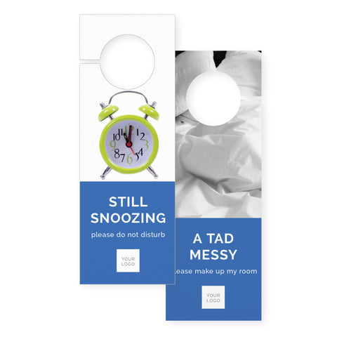 Door hangers – 2 sided - Colour Block – Blue