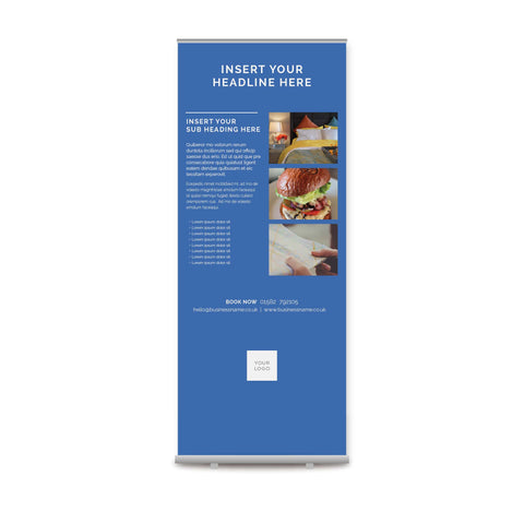 Pull-up Banner - Colour Block – Blue
