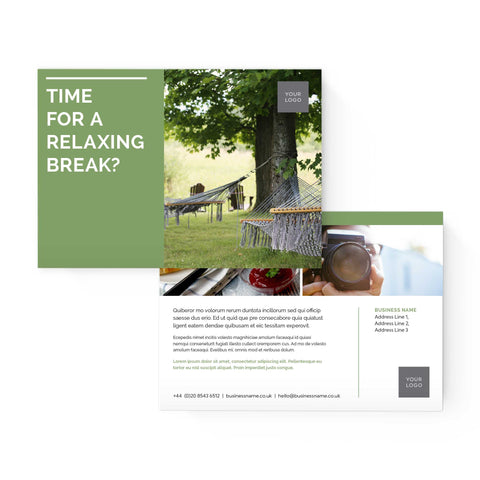 A5 Flyer - 2 sided - Colour Block – Green