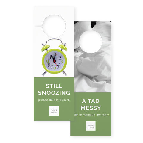 Door hangers – 2 sided - Colour Block – Green