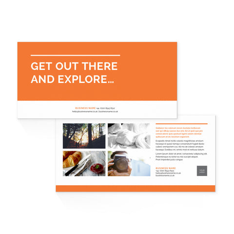 DL Flyer - 2 sided – landscape - Colour Block – Orange
