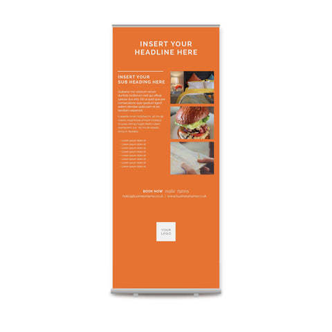 Pull-up Banner - Colour Block – Orange