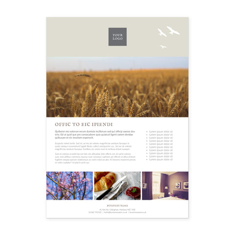 A4 Flyer / Factsheet - 1 sided - Country Style – Neutral