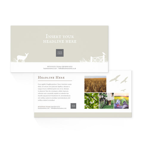 DL Flyer - 2 sided – landscape - Country Style – Neutral