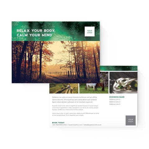 A5 Flyer - 2 sided - Forest Retreat – Green