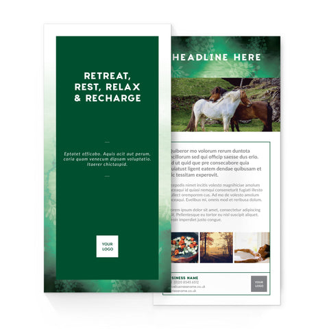 DL Flyer - 2 sided – portrait - Forest Retreat – Green