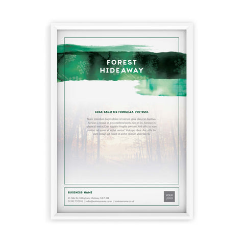 A2 Poster - Forest Retreat – Green