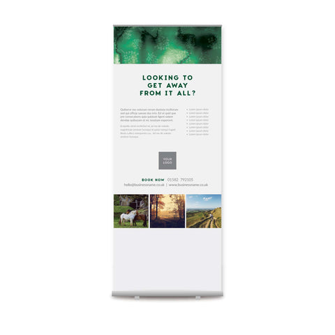 Pull-up Banner - Forest Retreat – Green