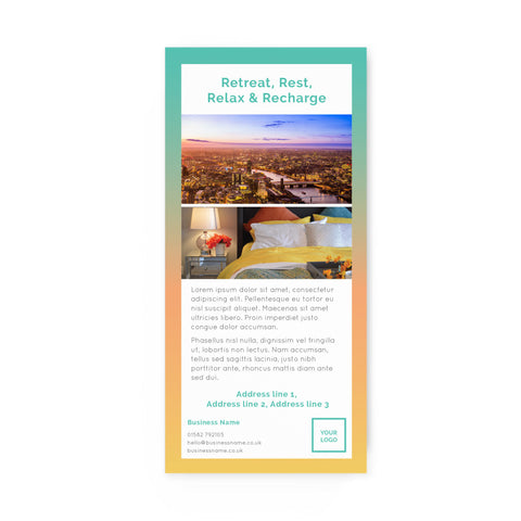DL Flyer - 2 sided – portrait - Urban Stays – Sunrise