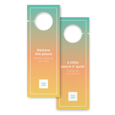 Door hangers – 2 sided - Urban Stays – Sunrise