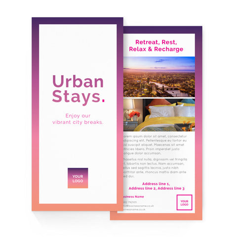 DL Flyer - 2 sided – portrait - Urban Stays – Sunset