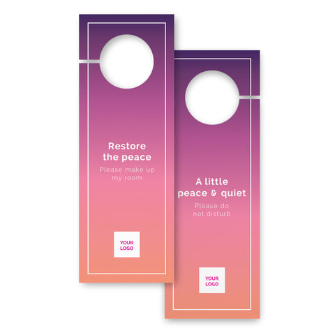 Door hangers – 2 sided - Urban Stays – Sunset