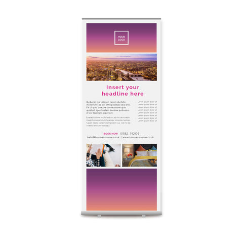 Pull-up Banner - Urban Stays – Sunset