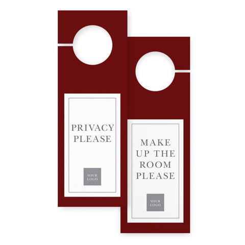 Door hangers – 2 sided - Value – Crimson